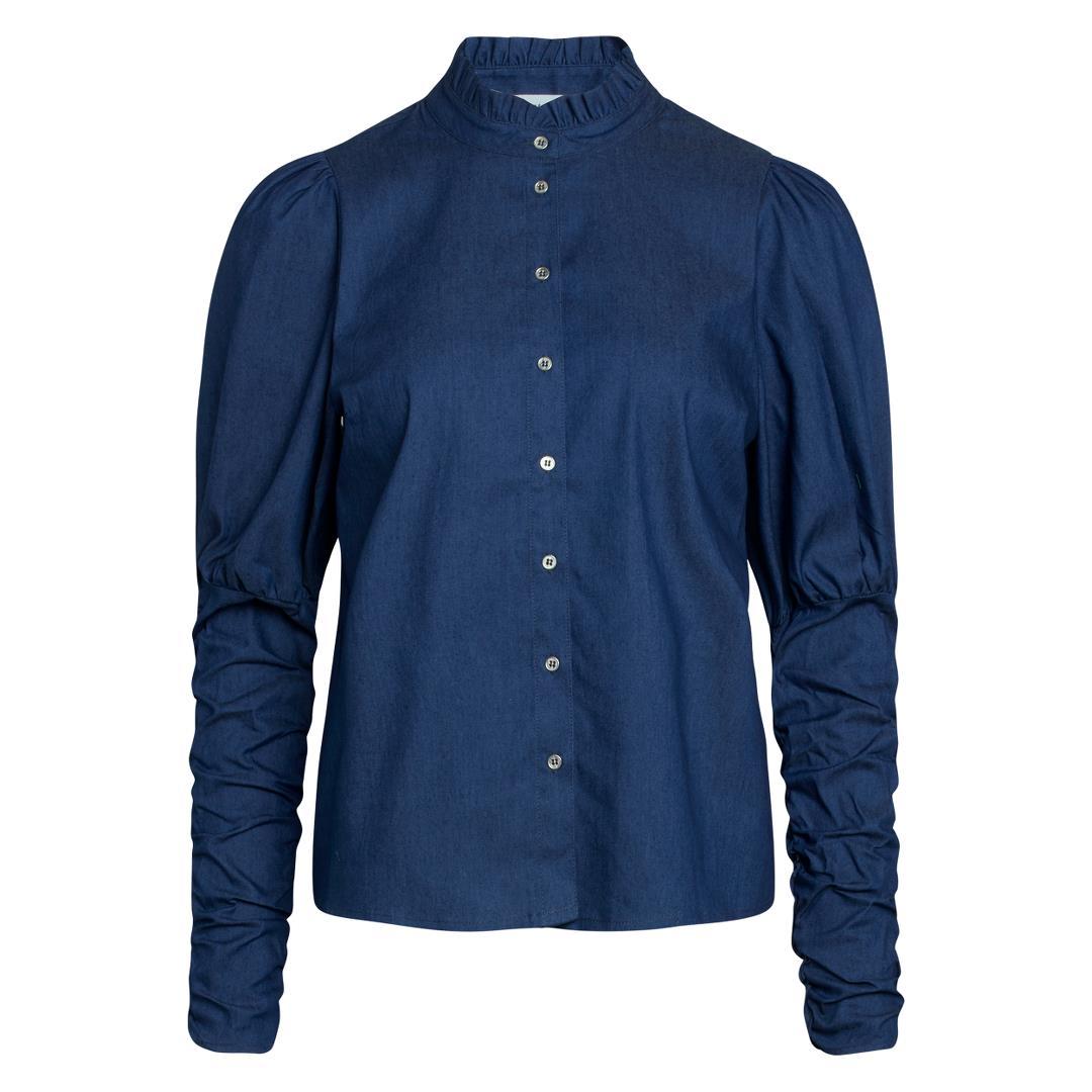 Sandy Denim Puff Shirt