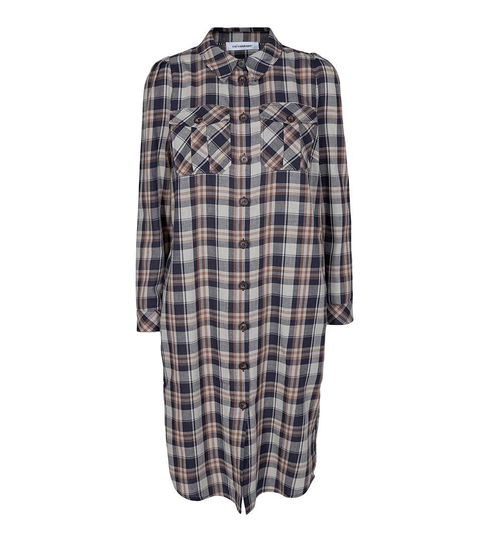 Uni Check Shirt Dress